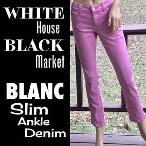 🆕WHBM▪️Bubblegum Pink BLANC Slim Ankle Jeans